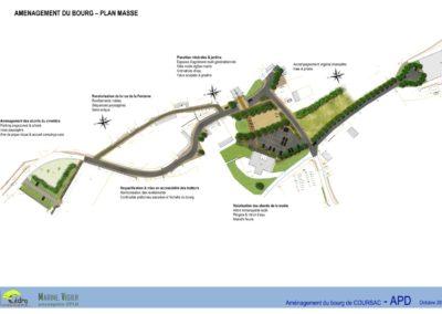 Aménagement du bourg de Coursac (24)