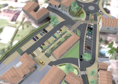 Aménagement du tour de ville Issigeac (24)
